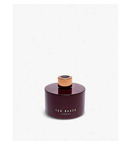 TED BAKER Pink pepper and cedarwood scented reed diffuser 200ml (Oxblood