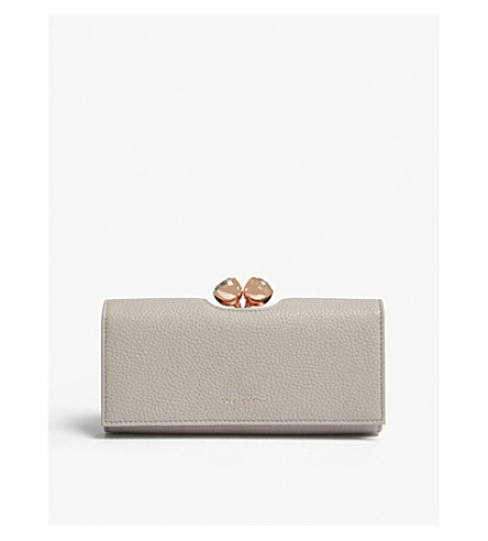 TED BAKER Bobble matinee textured leather wallet (Charcoal