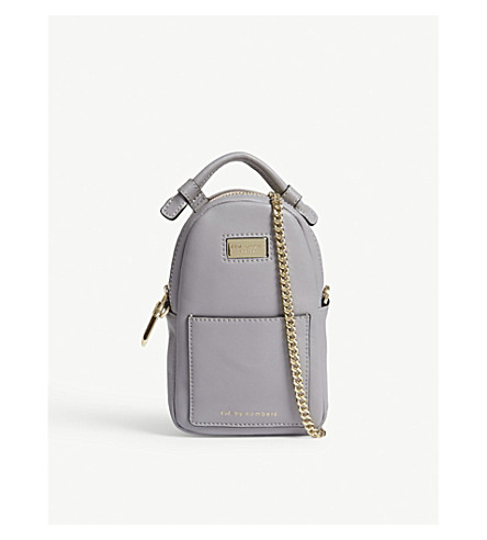 TED BAKER Babette small leather cross-body bag (Grey