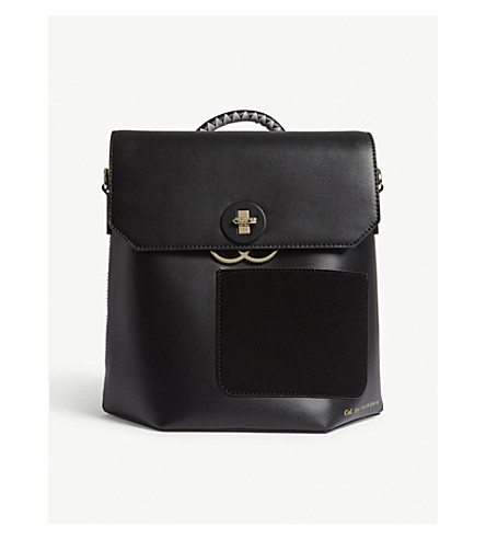 TED BAKER Keo leather backpack (Black