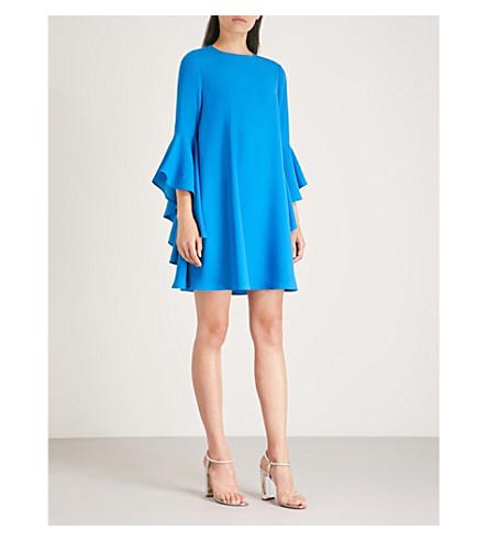 TED Ashleyy waterfall blue sleeve dress crepe TED BAKER BAKER Bright rwtIrq