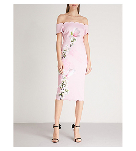 Sale Professional TED BAKER Olyva stretch-crepe dress Pale pink Pre Order Manchester Sale Online F2xu4