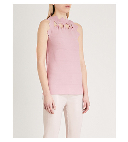 TED BAKER Elliah knitted top (Dusky+pink