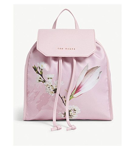 Where Can You Find TED BAKER Baileee drawstring backpack Pale pink Sale Prices For Nice Cheap Price Clearance Explore PvCYtD