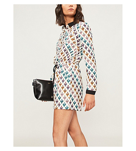 Colour By Numbers heart-print chiffon romper