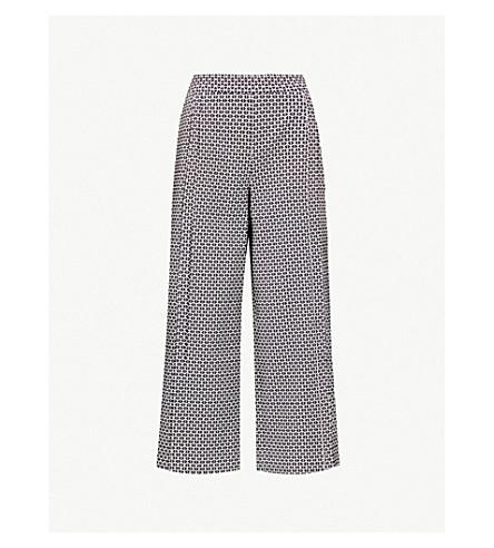 TED BAKER Bexleyt 几何图案针织裤子 (黑色