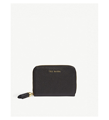 Sabel small grained leather purse