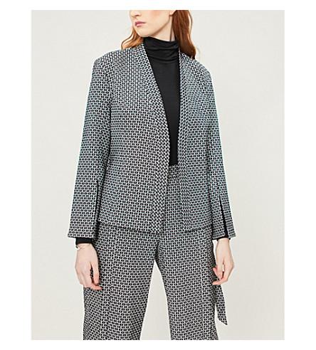 TED BAKER Bexxley geometric-pattern woven jacket (Black