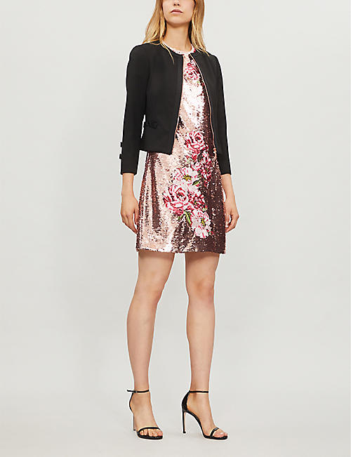 c8f45caa796820 TED BAKER - Nadae cropped bow-detail woven jacket