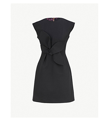 TED BAKER Tulip stretch-woven dress (Black