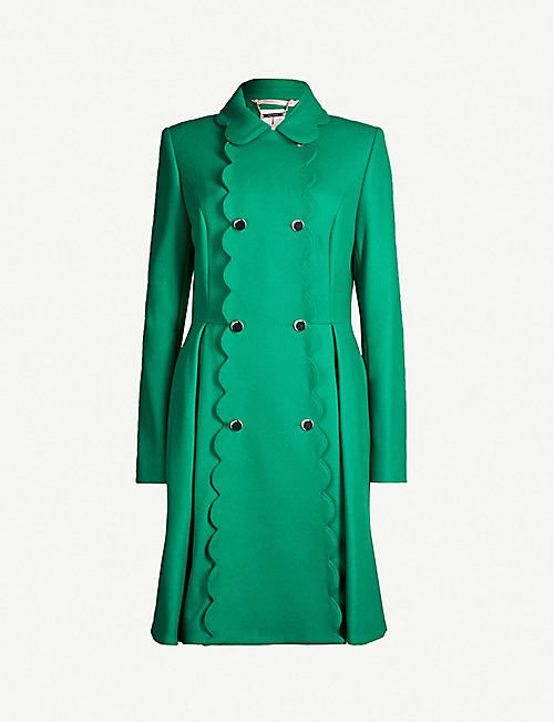 0ff59e6b6fce5 TED BAKER Blarnch scalloped wool-blend coat