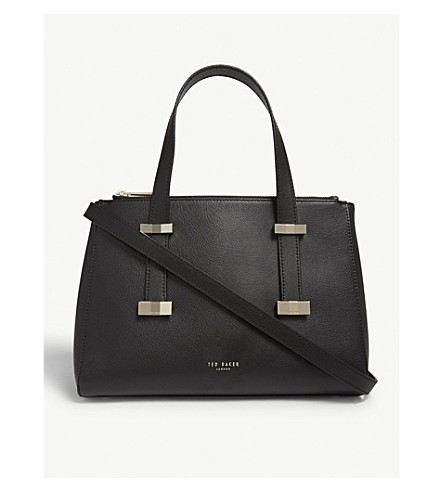0e2252b26d4ef TED BAKER Bow detail leather tote (Black