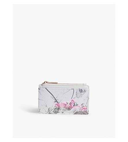 TED BAKER Floral-print mini purse (Grey
