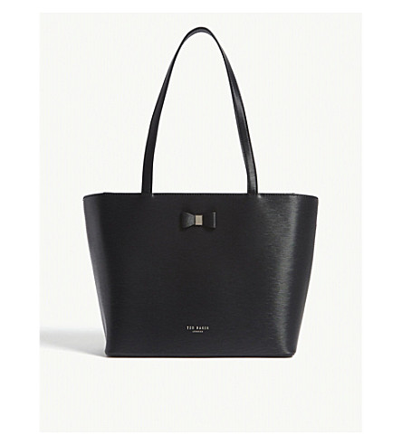 Cheap Sale Amazing Price Low Price Cheap Price TED BAKER Deanie small leather shopper bag Black Cheap Outlet Locations Pay With Visa Cheap Price ljHmw
