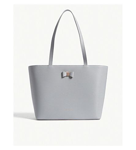 Deanie small leather shopper bag