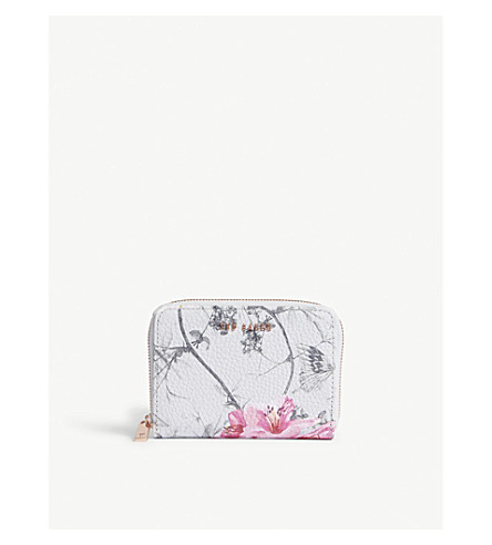TED BAKER Floral mini purse (Grey