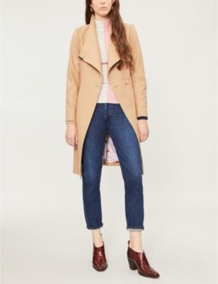Sandra wool-blend wrap coat