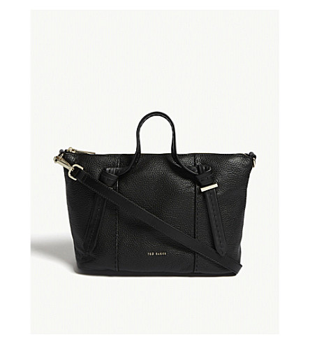 TED BAKER Olmia small leather tote (Black