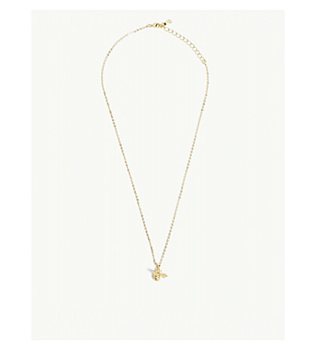 TED BAKER Bellema bumble bee pendant necklace (Gold+colour