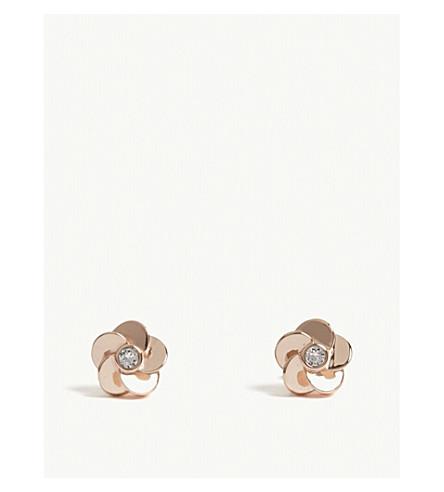 TED BAKER Floral crystal-embellished stud earrings (Clear