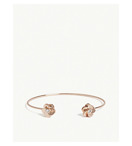 TED BAKER Phedra embellished flower cuff (Clear
