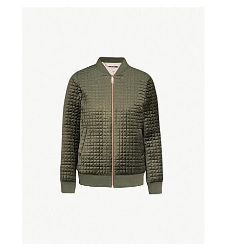 TED BAKER Ted Says Relax quilted velvet jacket (Khaki