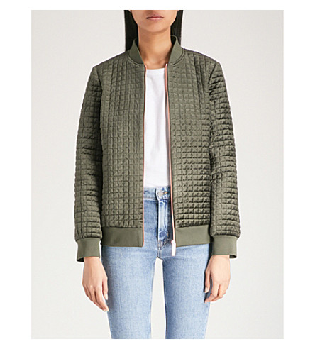 TED BAKER Ted Says Relax quilted velvet jacket (Khaki