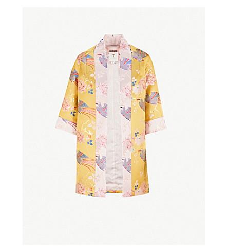 TED BAKER Diamona chinoiserie jacquard kimono (Yellow