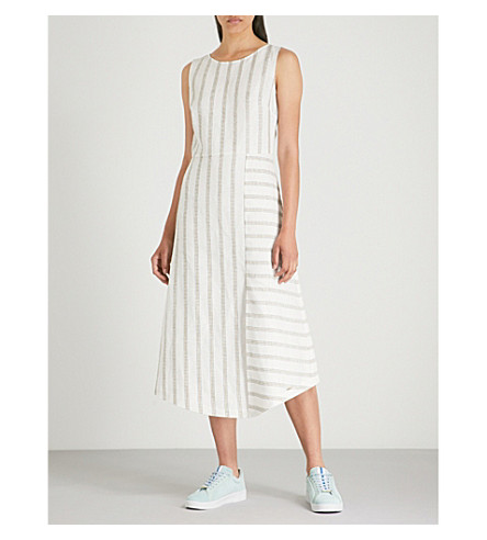 Colour By Numbers Chambra striped linen dress