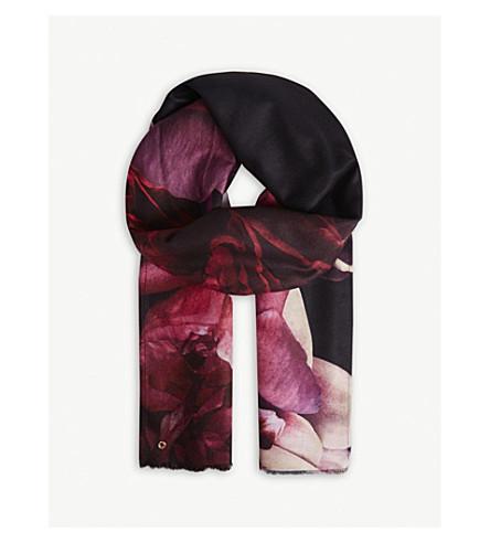 TED BAKER 卡利长梭织围巾 (黑色