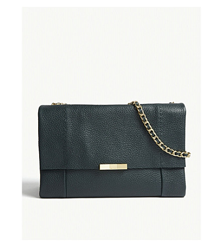 a221ab87b0 TED BAKER Genifer leather shoulder bag (Dark+green