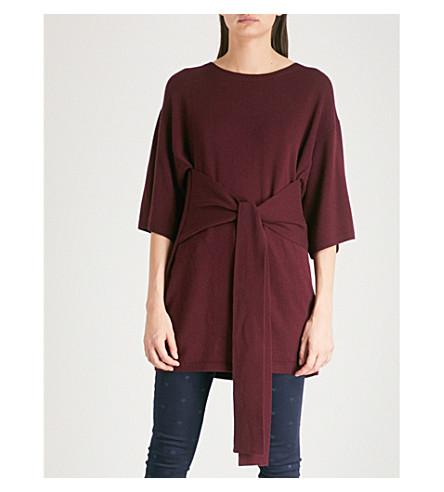 TED BAKER Fine-knit wool-blend jumper (Dark+red