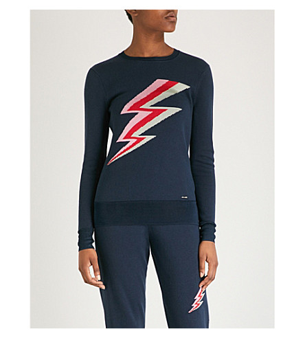 TED BAKER Colour By Numbers Chandra cotton-blend jumper (Navy
