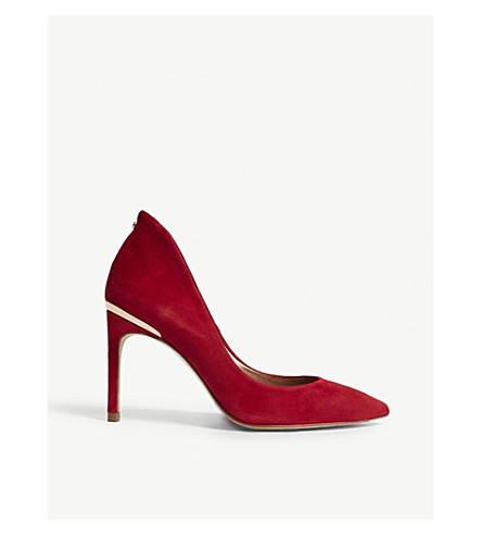 TED BAKER Savio 2 suede courts (Red