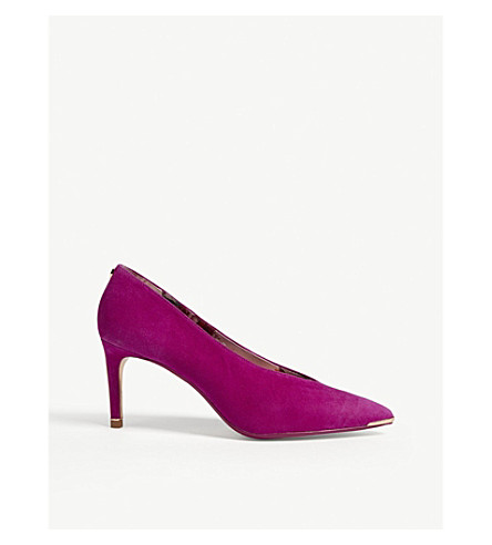 TED BAKER Ionoxas pointed suede courts (Deep pink