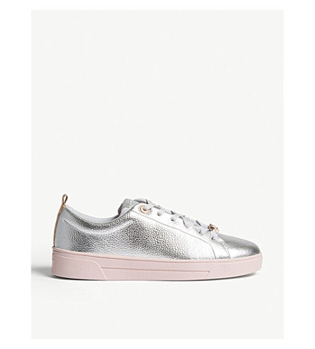 428f54d85 TED BAKER Gielli leather trainers (Silver