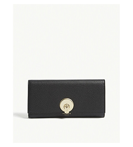 TED BAKER Shakeen grained leather purse (Black