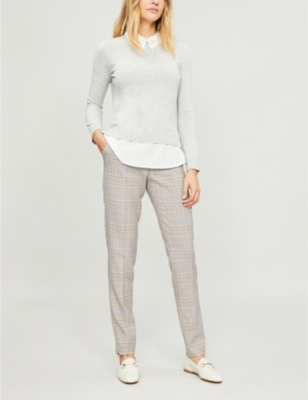 Nansea floral collar knitted jumper