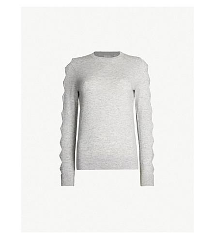 TED BAKER Danikaa 蝴蝶结细节针织毛衣 (浅色 + 灰色