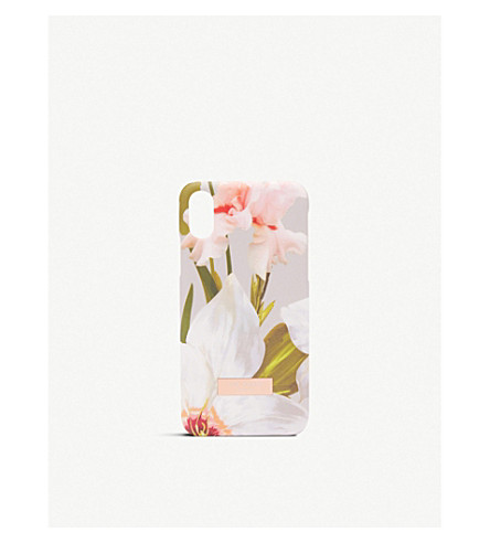 TED BAKER Rebecca Chatsworth Bloom iPhone case (Mid+grey