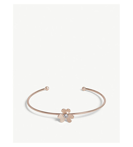 TED BAKER Haona heart blossom cuff (Rosegold+col