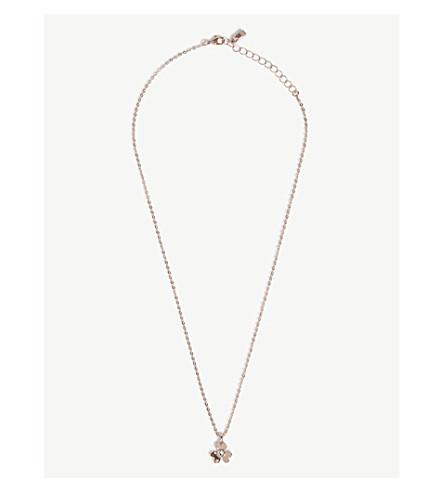 TED BAKER Harpria heart blossom pendant necklace (Rosegold+col