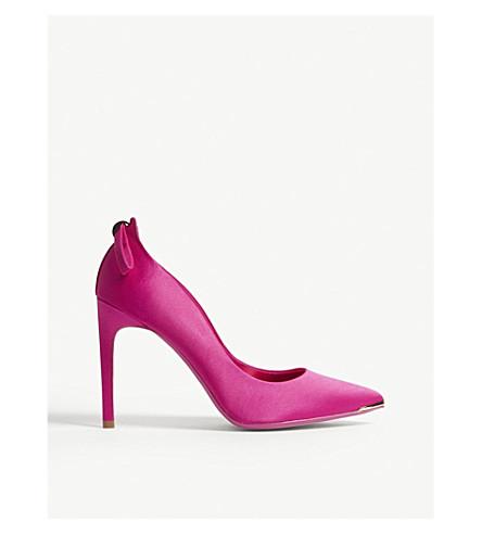 TED BAKER Livlia 缎布宫廷鞋 (紫红色