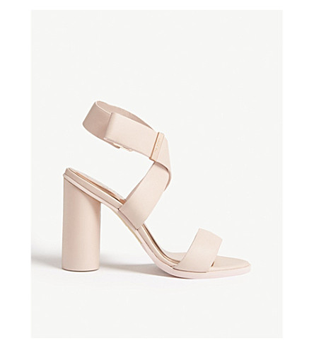 TED BAKER Meila leather strappy sandals (Light pink