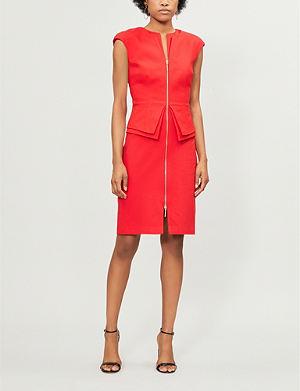 TED BAKER Kwyli stretch-woven peplum detail dress 502695112