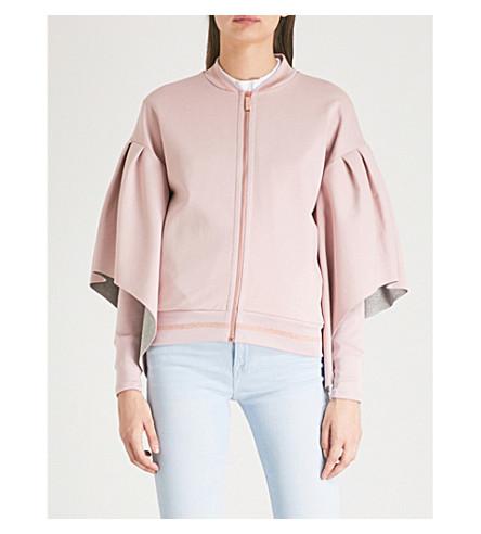 TED BAKER Kimono-sleeves bomber jacket (Dusky+pink