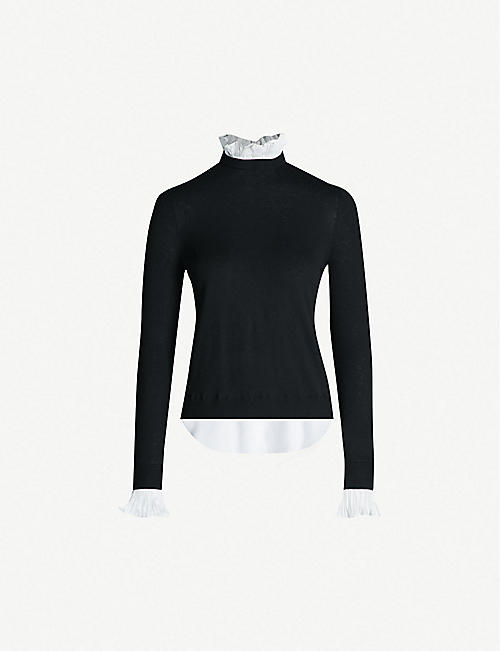 e04a00ca3713b TED BAKER Kaarina knitted and satin sweater