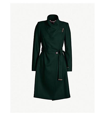 TED BAKER Sandra wool-blend coat (Dark green