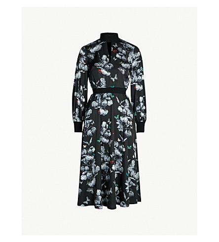 ffece6f1200f TED BAKER - Narrnia-print satin-twill midi dress | Selfridges.com