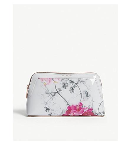 TED BAKER Babylon floral-print makeup bag (Grey